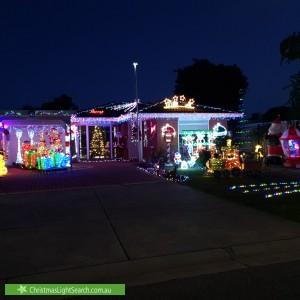 Christmas Light display at 3 Emma Court, Berwick