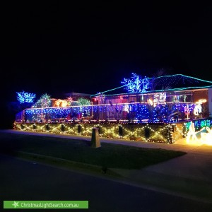 Christmas Light display at 12 Fairleigh Court, Narre Warren