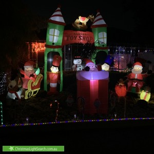Christmas Light display at 6 Quinn Court, Altona Meadows