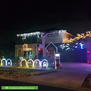 Christmas Light display at 74 Featherbrook Drive, Point Cook