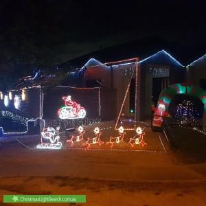 Christmas Light display at 62 Jamieson Way, Point Cook