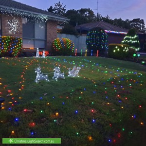 Christmas Light display at 5 Gilligans Court, Rowville