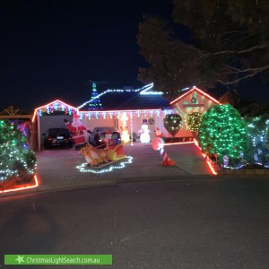 Christmas Light display at 7 Jenkins Court, Craigmore