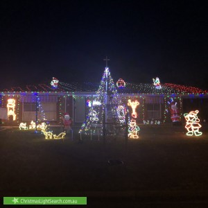Christmas Light display at 11 Spaans Crescent, Salisbury North