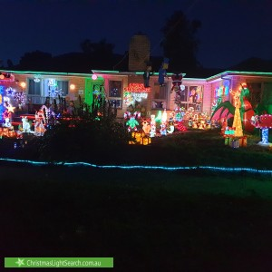 Christmas Light display at 61 Balmoral Street, Kilsyth