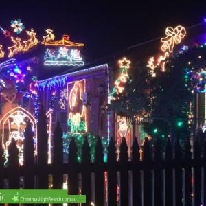 Christmas Light display at 2 Lance Close, Aspendale Gardens