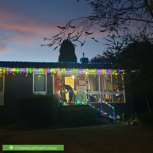 Christmas Light display at 61 Ross Smith Crescent, Scullin