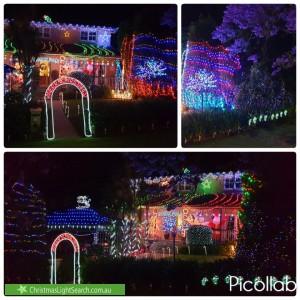 Christmas Light display at 43 Bimburra Avenue, Saint Ives