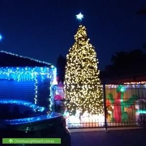 Christmas Light display at 116 Bemersyde Drive, Berwick