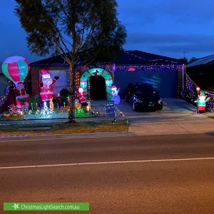 Christmas Light display at 167 Painted Hills Road, Doreen