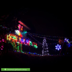 Christmas Light display at 1 Hilltop Avenue, Padstow Heights