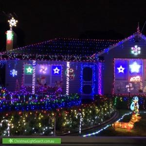 Christmas Light display at 3 Norfolk Avenue, Ringwood