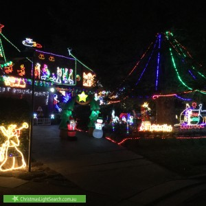 Christmas Light display at 9 Coreen Place, Blaxland