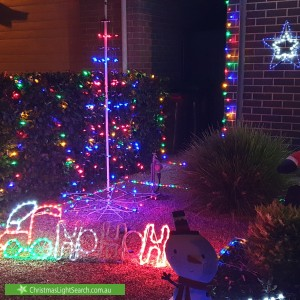 Christmas Light display at  Lakes Entrance, Blakeview
