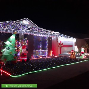 Christmas Light display at 15 Fernleaf Loop, Piara Waters