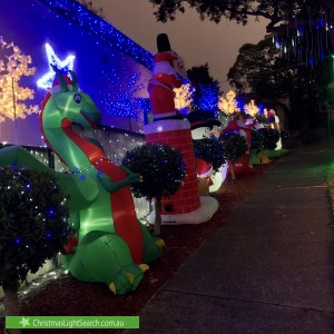 Christmas Light display at 2 Magic Grove, Mosman