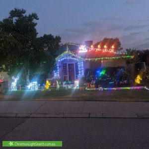 Christmas Light display at 188 Watts Road, Wilson