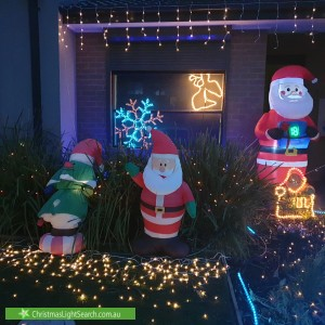 Christmas Light display at 10 Portrait Place, Clyde North