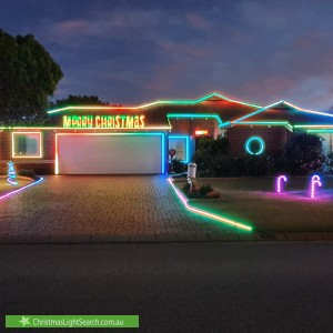 Christmas Light display at 23 Kingia Way, Canning Vale