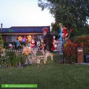 Christmas Light display at 3 Trident Close, West Busselton