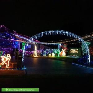 Christmas Light display at 18 Kneebone Street, Bonython