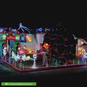 Christmas Light display at 16 Hindmarsh Road, Liverpool