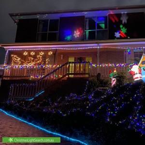 Christmas Light display at 11 Glen Court, Templestowe