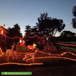 Christmas Light display at 5 George Street, Glenroy