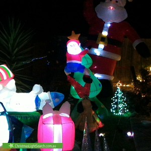Christmas Light display at 42 Peterson Street, Crib Point