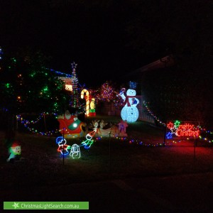 Christmas Light display at 13 Grayden Drive, Berwick
