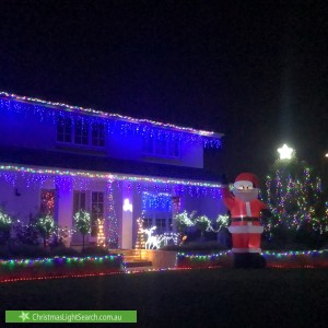 Christmas Light display at 5 Pyers Court, West Lakes