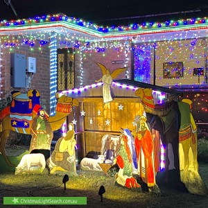 Christmas Light display at 4 Wood Street, Drouin