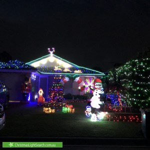Christmas Light display at 37 Tomago Court, Wattle Grove