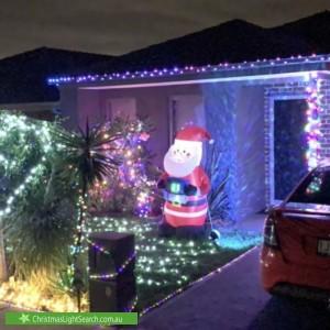 Christmas Light display at 16 Blacksmith Way, Clyde North