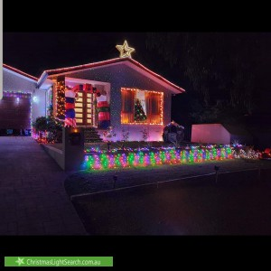 Christmas Light display at 4 Bertram Street, Fadden