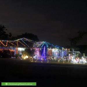 Christmas Light display at 58 Corrington Circle, Nollamara