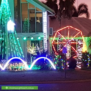 Christmas Light display at 20 Majestic Drive, Durack