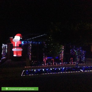 Christmas Light display at 9 Henwood Court, Gawler East