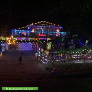 Christmas Light display at 63A Chester Street, Epping