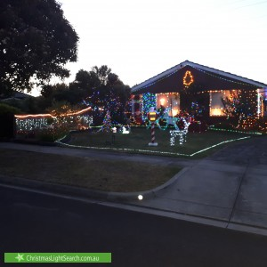Christmas Light display at 8 Libere Court, Doncaster
