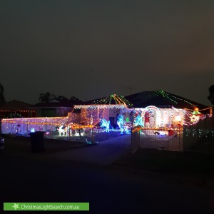 Christmas Light display at 20 Climus Street, Hassall Grove