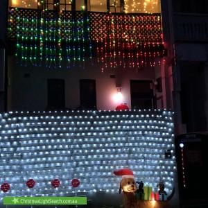 Christmas Light display at  Tasman Street, Bondi
