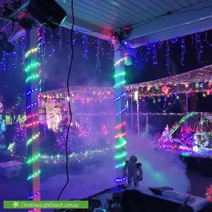 Christmas Light display at 12 Sundown Drive, Paradise Point