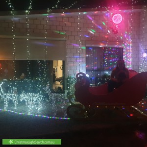 Christmas Light display at 49 Willow Rise Drive, Waterford