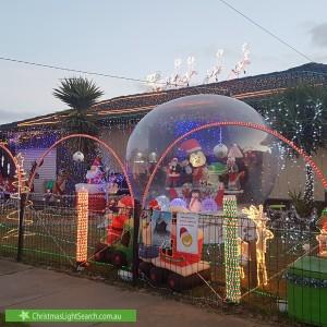 Christmas Light display at 82 Townsend Road, Saint Albans Park