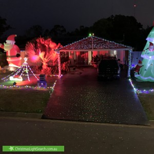 Christmas Light display at 6 Topham Street, Bald Hills