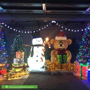 Christmas Light display at 9 Gill Street, Kootingal
