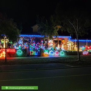Christmas Light display at 13 Landano Way, Doreen