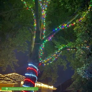 Christmas Light display at  Goodwin Street, Glen Iris