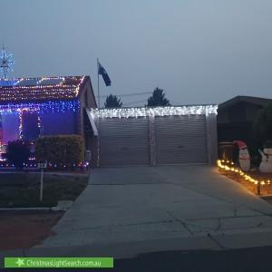Christmas Light display at 20 Aronson Crescent, Gilmore
